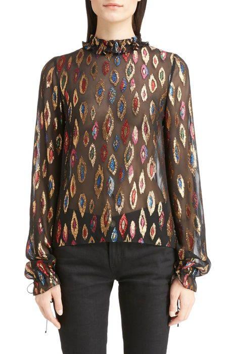 flame fil coup silk blouse フレイム ? シルク ブラウス レディースファッション トップス シャツ