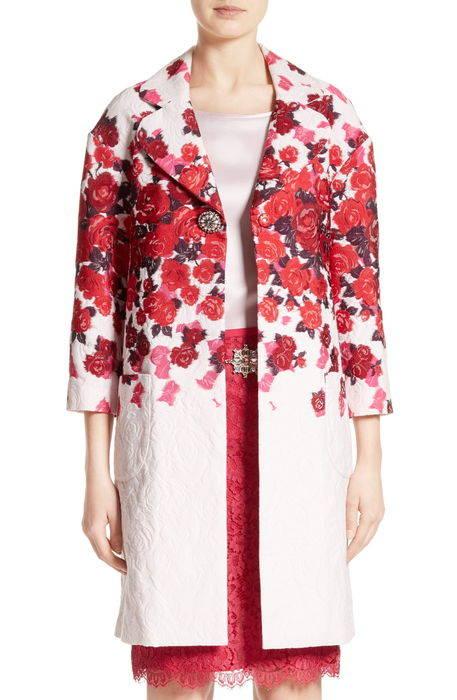 mira floral jacquard topper フローラル ジャガード ブラウス レディースファッション シャツ トップス