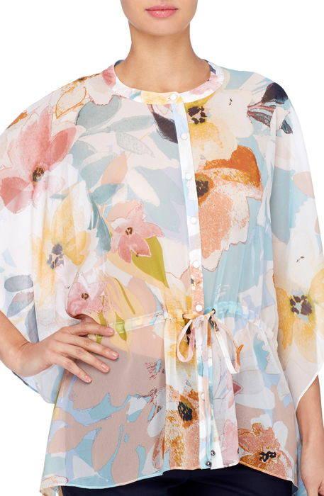 komai floral chiffon blouse フローラル シフォン ブラウス トップス レディースファッション シャツ