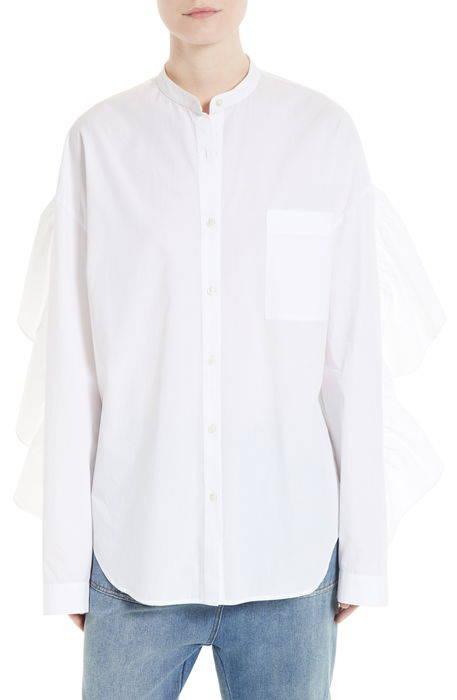 ruffle back shirt ラッフル バック シャツ ブラウス トップス レディースファッション