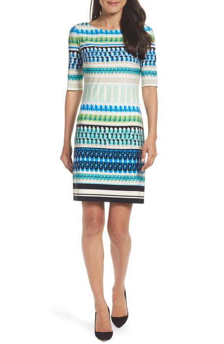 print shift dress プリント シフト ドレス ワンピース レディースファッション