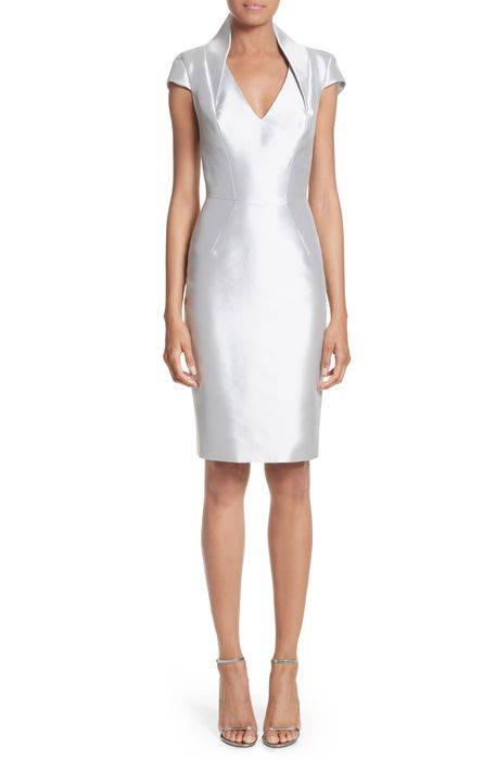 cap sleeve sheath dress キャップ 帽子 スリーブ ドレス ワンピース レディースファッション