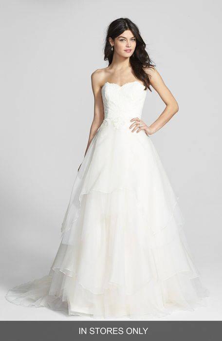 mila strapless silk organza wedding dress '' シルク オーガンザ ウェディング ドレス ワンピース レディースファッション