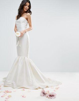 エイソス asos トランペット ドレス マキシ ヘム ブライダル ワンピース bridal trumpet hem maxi dress レディースファッション