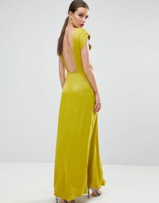 一般用 エイソス asos open square back maxi dress ワンピース マキシ ドレス オープン バック スクエアー レディースファッション