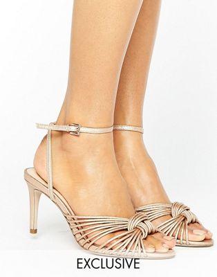 office オフィス millie ミリー knot rose ローズ gold ゴールド 金 mid ミッド heeled sandals サンダル � レディース�