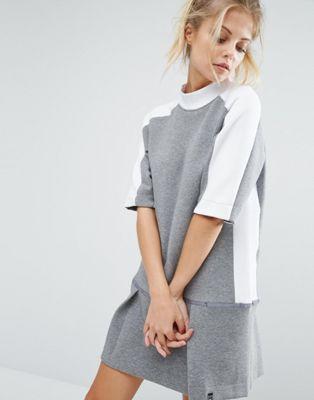 nike ナイキ premium プレミアム court カウント sweat スウェット dress ドレス ワンピース with drop ドロップ waist ウェスト レディースファッション