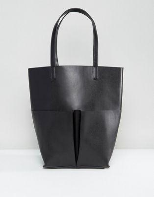 glamorous グラマラス pocket ポケット tote トート bag バッグ in イン black 黒 ブラック レディースファッション