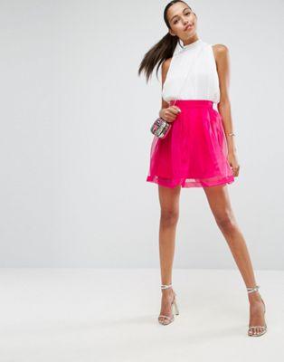 エイソス asos ミニ イン スカート オーガンザ mini prom skirt in organza ボトムス レディースファッション キュロットスカート