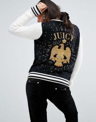 バーシティ ジャケット ジューシー クチュール イーグル juicy couture varsity jacket with eagle コート アウター レディースファッション