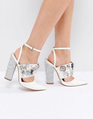 ASOS エイソス PAPAYA Bridal Embellished Heels
