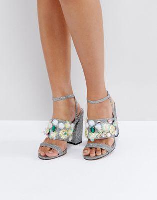ハイ holla! エイソス asos embellished high heels レディース靴 靴