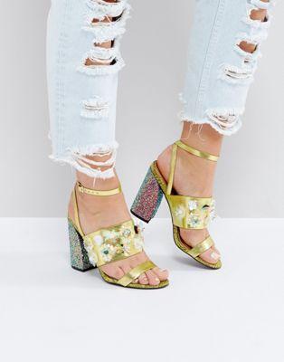 エイソス ハイ holla! asos embellished high heels レディース靴 靴