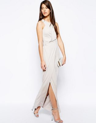 ドレス ワンピース ジャージ karen millen maxi dress in draped jersey