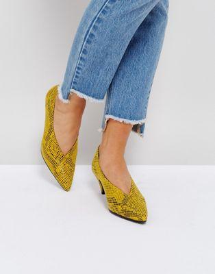 ポンプ gestuz snake skin heeled pump レディースファッション