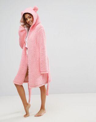 asos エイソス fluffy cloud クラウド robe ローブ with ears イヤーズ レディースファッション