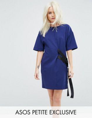 小さいサイズ エイソス ワンピース ドレス tシャツ asos petite dring detail dress