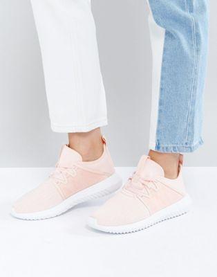 adidas tubular viral trainer in pale pink ピンク トレーナー アディダス レディースファッション