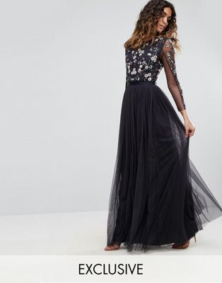 & needle thread ditsy scatter tulle gown