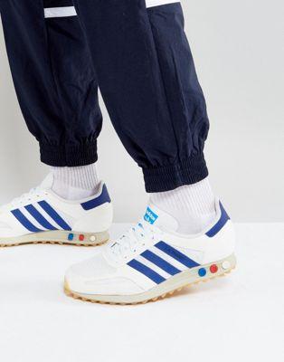 ホワイト トレーナー 白 オリジナルス アディダス adidas originals la trainer og trainers in white by9319 メンズファッション