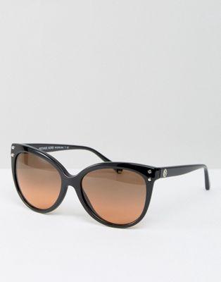 クラシック コントラスト コース キャットアイ マイケル レンズ アクセサリー michael kors classic cateye sunglasses with contrast lens レディースファッション