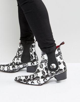 jeffery ジェフリー west ウェスト sylvian シルヴィアン mugshot chelsea チェルシー boots ブーツ in イン white 白 ホワイト メンズ靴 靴
