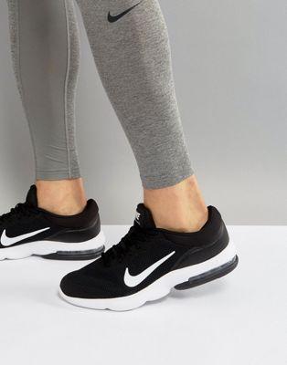 nike running air max advantage trainers in black 908981001 トレーナー ブラック ナイキ ランニング 黒 エアー イン マックス 靴 メンズ靴