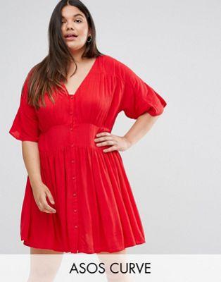 asos エイソス curve 大きいサイズ casual カジュアル ファッション tea ティー dress ドレス ワンピース レディースファッション