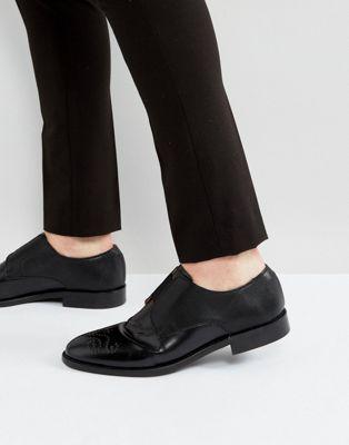 house ハウス of hounds ハウンズ aiden embossed エンボス leather レザー shoes シューズ 運動靴 in イン black 黒 ブラック メンズ靴 靴