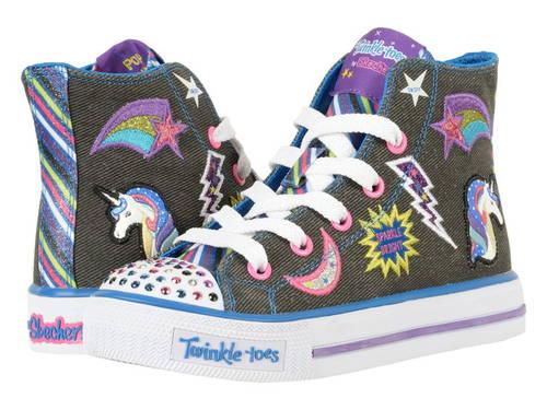 スケッチャーズキッズ トゥインクル トゥース  ライト SKECHERS KIDS Twinkle Toes - Shuffles 10776L Lights (Little Kid/Big Kid)