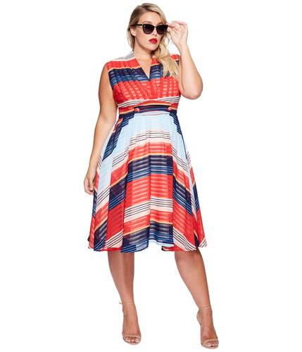 プラス サイズ ドレス ワンピース Unique Vintage Plus Size De Carlo Dress
