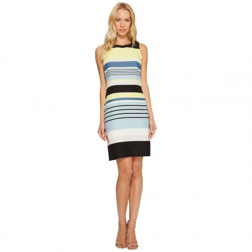 ヴィンスカムート スリーブレス ストライプ ハーモニー シフト ドレス ワンピース Vince Camuto Sleeveless Stripe Harmony Shift Dress