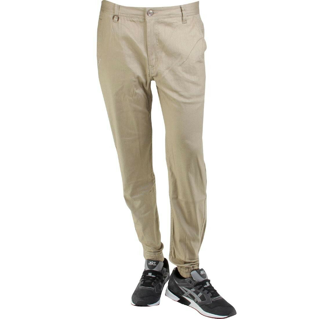 パブリッシュ スラブ ジョガー ストレッチ パンツ ツイル publish newkirk slub stretch twill jogger pants tan レディースファッション ユニセックスウエア
