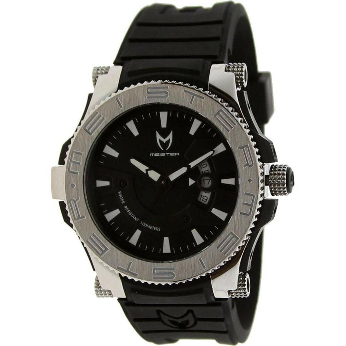 時計 銀色 ラバー シルバー ステンレス ウォッチ プロディジー meister prodigy stainless watch black silver rubber bands 腕時計 男女兼用腕時計
