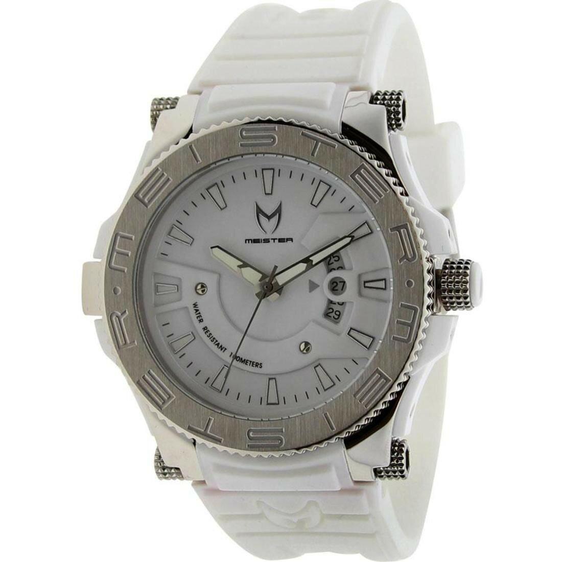 meister prodigy プロディジー stainless ステンレス watch ウォッチ 時計 white silver 銀色 シルバー 白 ホワイト rubber ラバー band 腕時計 男女兼用腕時計