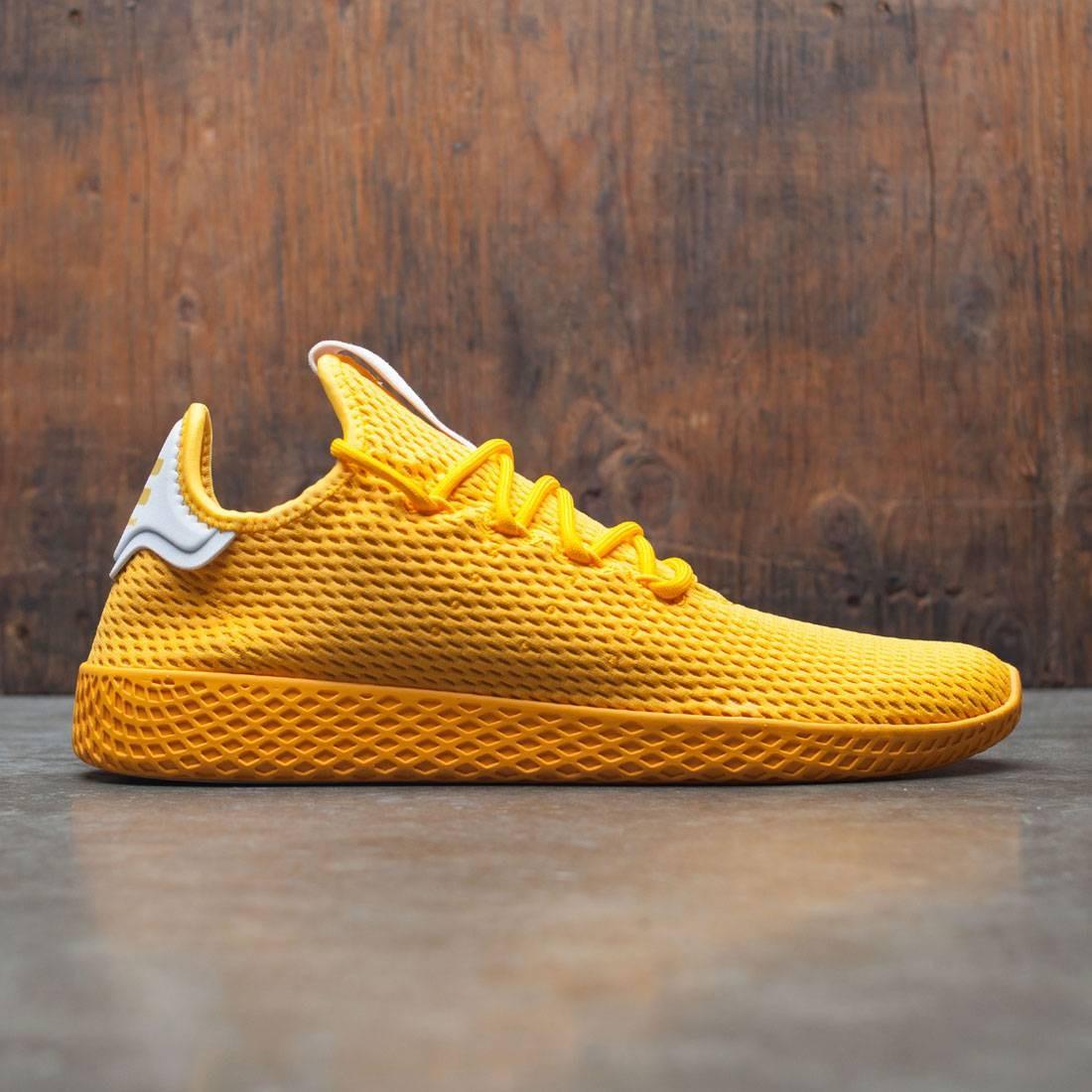 アディダス adidas x pharrell williams men tennis hu yellow collegiate gold footwear white ウィリアムズ 金 ファレル カレッジ シューズ メン ゴールド テニス 靴 メンズ靴 スニーカー