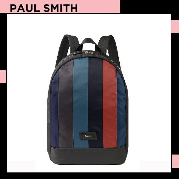 ポールスミス Paul Smith メンズ ナイロン パッチワーク バックパック リュックサック レッド 送料無料 代引き料有料 消費税込