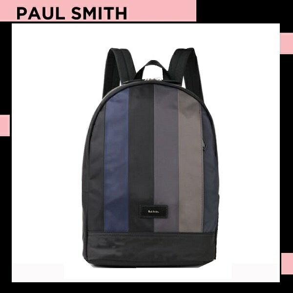 ポールスミス Paul Smith メンズ ナイロン パッチワーク バックパック リュックサック グレー 送料無料 代引き料有料 消費税込