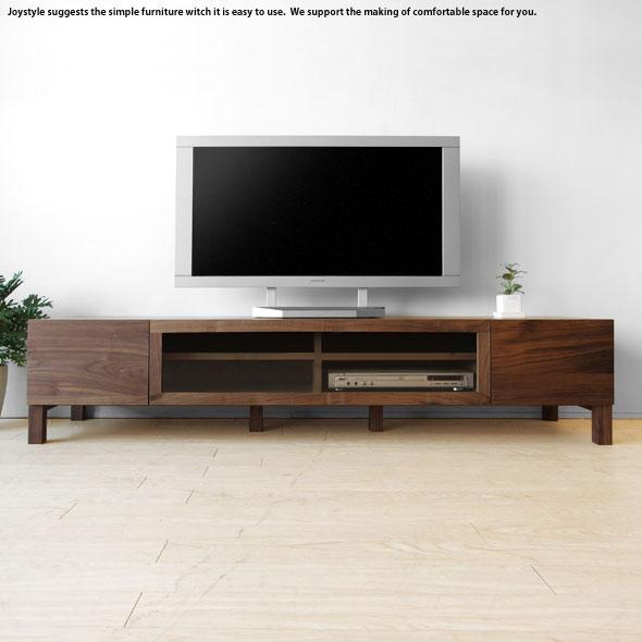 【開梱設置配送】幅164cm ウォールナット材 ウォールナット無垢材 天然木 木製 和モダンテイスト 収納力があるシンプルモダンデザインのロータイプのテレビボード VEIL-TV164
