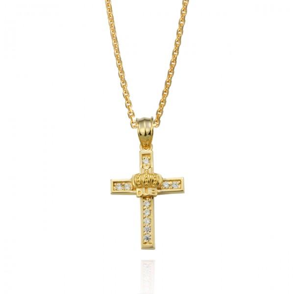 【DUB collection ダブコレクション】Shine crown Necklace シャイン クラウン ネックレス イエローゴールド ユニセックス シルバー CZ ペンダント ネックレス 2013【送料無料】【楽ギフ_包装選択】