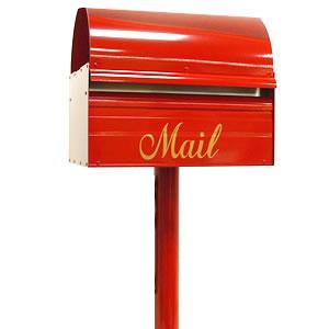 ポスト「レターボックスマン3091 スタンダードポール付き」シンプルなスタンド一体型の郵便ポスト【スタンドタイプ】【ポスト スタンドセット】【POST】【送料無料】 おしゃれな 玄関ポスト 郵便受け箱 スタンドポスト 郵便受け 自立式 ポール おしゃれ スタンド