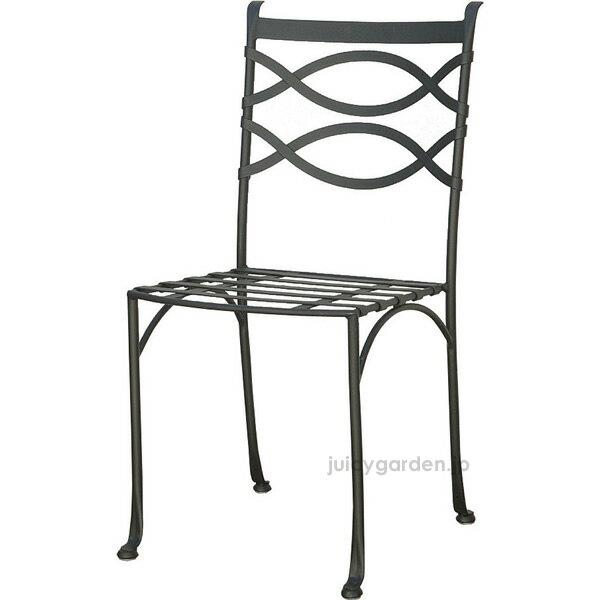 【椅子 アイアン】【チェア】洗練されたデザインの「アルダビストロチェアー」:クッション付き!【送料無料】