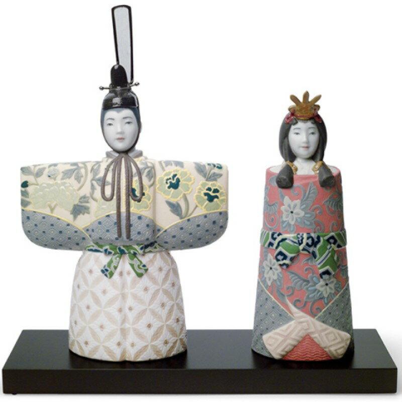 リヤドロ LLADRO ひな人形親王飾り 立雛 1008437