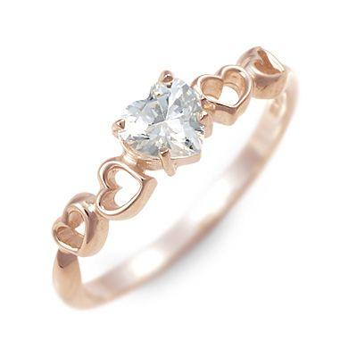 HIS jewelry collection ヒス・ジュエリーコレクション リング 指輪 キュービック ピンク 20代 30代 彼女 レディース ハート 楽ギフ_包装 smtb-m