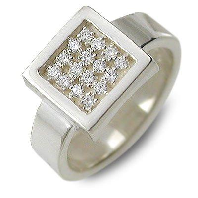 HIS jewelry collection ヒス・ジュエリーコレクション シルバー リング 指輪 キュービック ホワイト 20代 30代 彼女 レディース 楽ギフ_包装 smtb-m