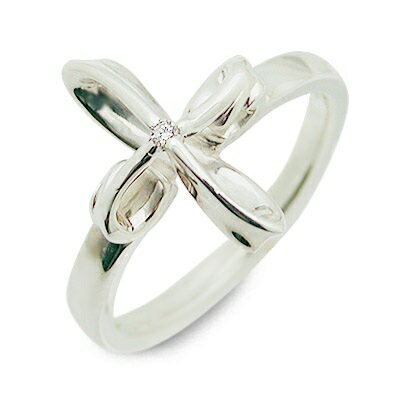 未来天使 シルバー リング 指輪 ダイヤモンド ホワイト 20代 30代 彼女 レディース 楽ギフ_包装 smtb-m