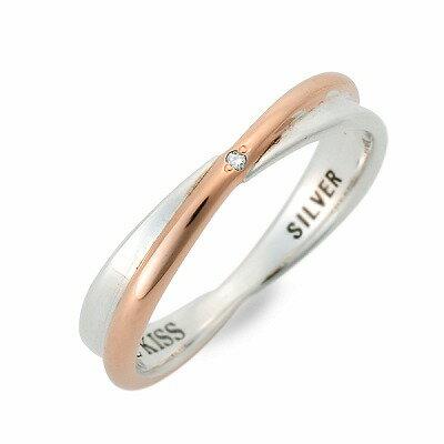 THE KISS ザ・キッス シルバー リング 指輪 ダイヤモンド ホワイト 20代 30代 人気 ブランド 楽ギフ_包装 smtb-m