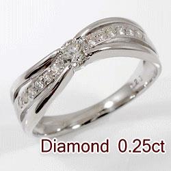 プラチナ900 天然ダイヤモンド 13石 0.25ct ジュエリーアイ