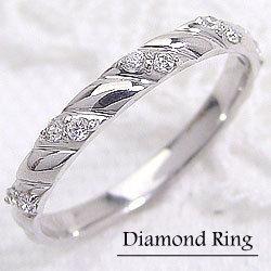 ダイヤモンドリング ホワイトゴールドK10 K10WG 指輪diaring ピンキーリング ジュエリー アクセサリーショップ ギフト