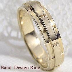 バンドデザインリング イエローゴールドK18 K18YG指輪 誕生日 プレゼント アクセサリーショップ ジュエリーショップ ファッションリング ギフト